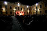 Cortile Istituto Figlie di Gesù by night